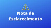 NOTA DE ESCLARECIMENTO: Interrupção das transmissões audiovisuais