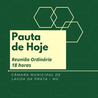 Pauta da Reunião Ordinária - 14/06/2021