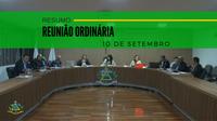 Resumo da Reunião Ordinária do dia 10 de setembro de 2019