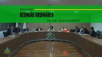 Resumo da Reunião Ordinária do dia 18 de novembro de 2019