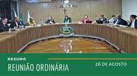 Resumo da Reunião Ordinária do dia 26 de agosto de 2019