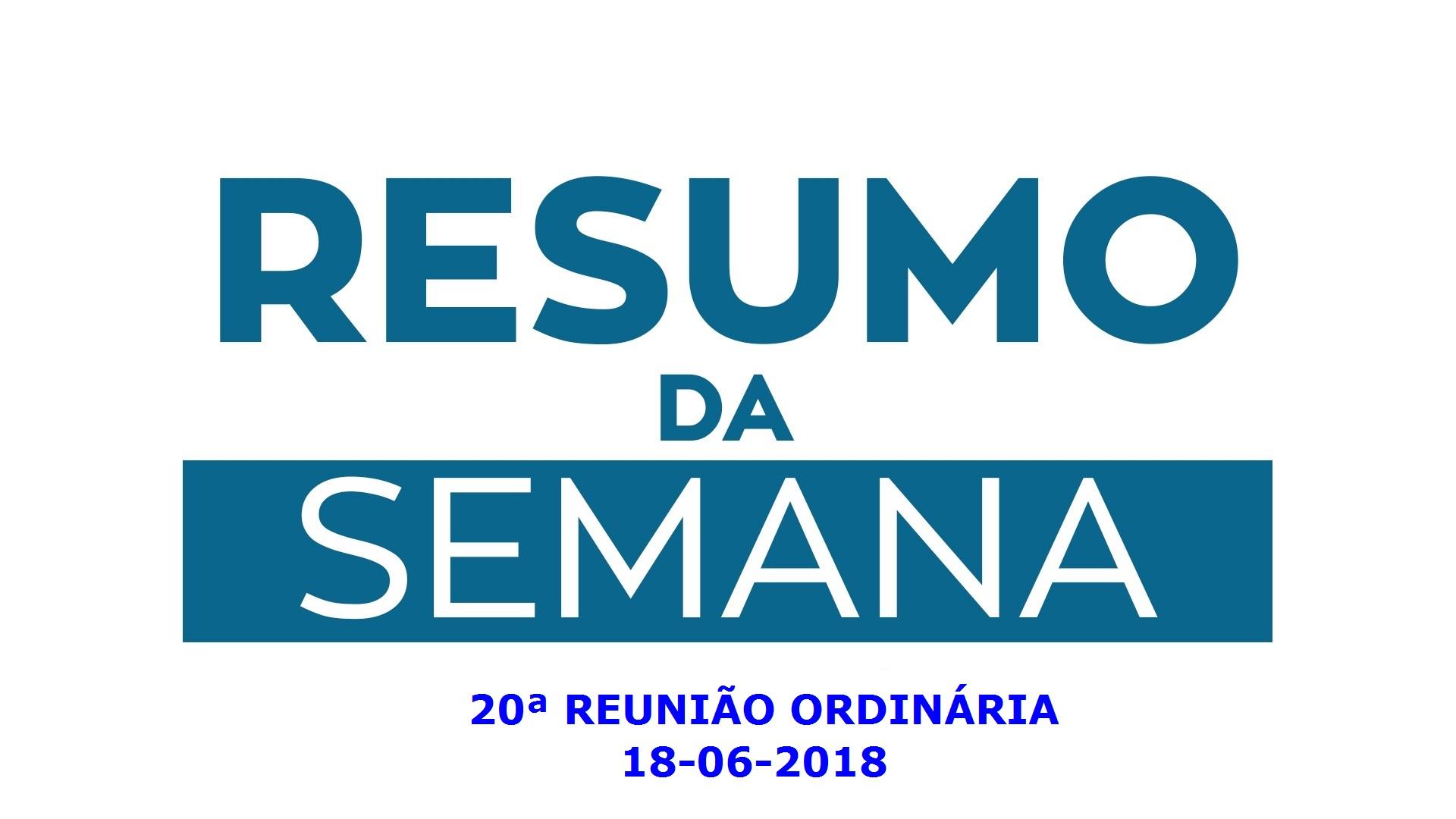REUNIÃO ORDINÁRIA DO DIA 18 DE JUNHO