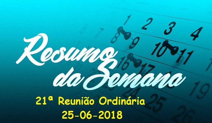 Reunião Ordinária do dia 25/06/2018